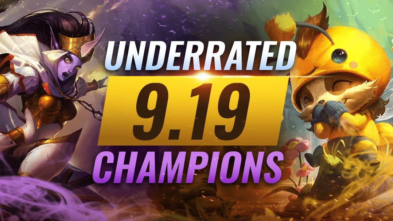 11 INCREDIBLY Underrated Champions YOU SHOULD ABUSE in Patch 9.19 - League of Legends Season 9 thumbnail