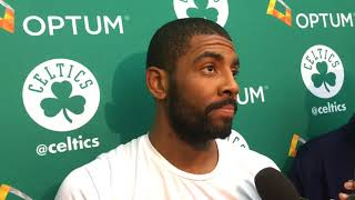 Kyrie Irving Does Not Regret Vulgar Exchange With Fan | Boston Celtics
