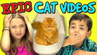 Kids React Bonus - Epic Cat Videos!