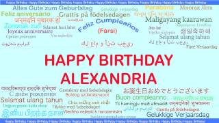 Alexandria   Languages Idiomas - Happy Birthday