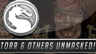 Mortal Kombat X: All Character Faces Unmasked - Torr, Smoke, Rain & More! (Mortal Kombat 10)