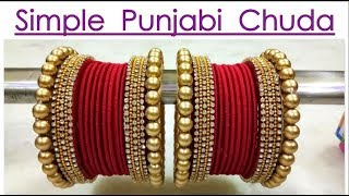 NEW SILK THREAD SIMPLE  PUNJABI CHURA FOR WEDDING | ART WITH ABHIJEET | BANGLES MAKING AT HOME
