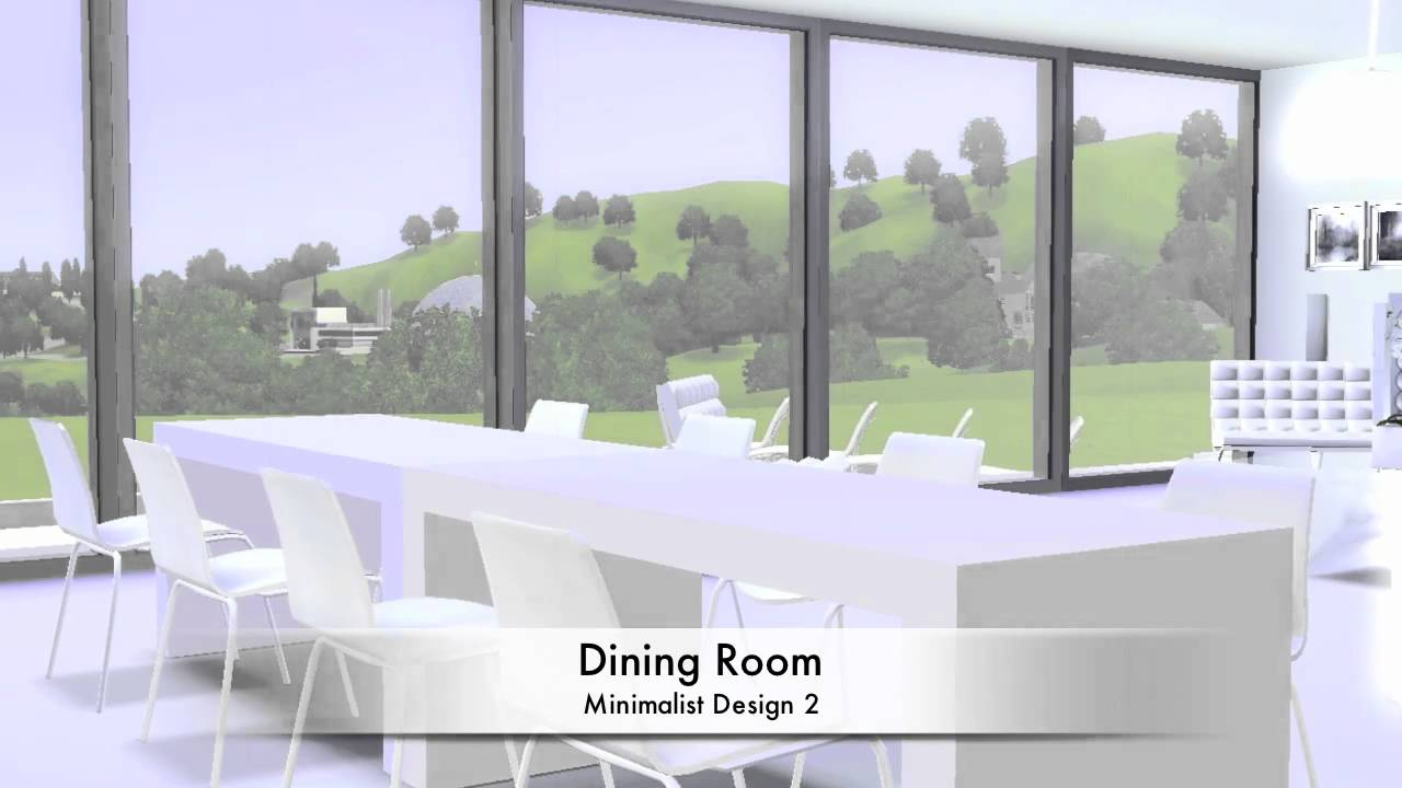 Sims 3 Minimalist House Design 2 Youtube