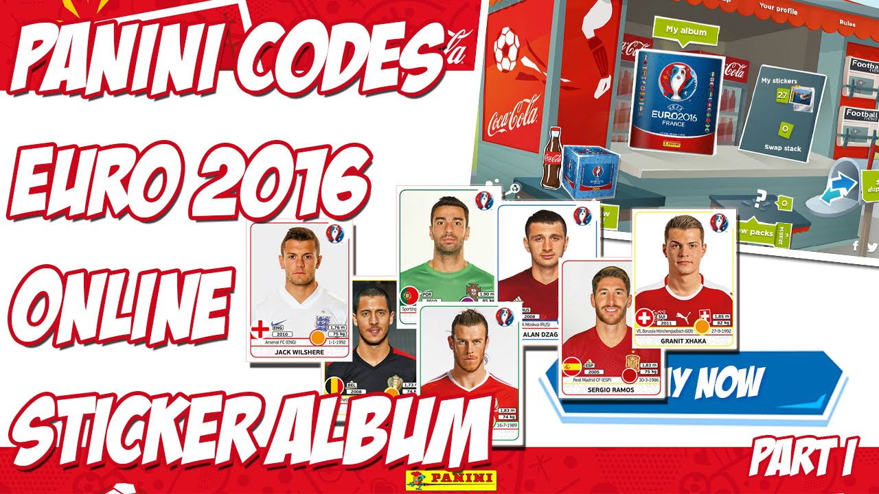 Using STICKERS CODES ⭐ Panini Euro 2016 Virtual Album ⭐  14 ... 7840808237724