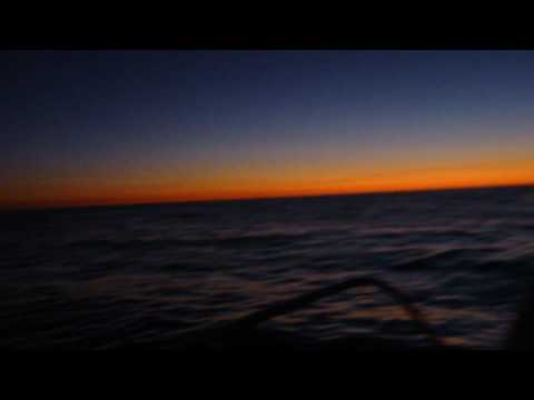 On my boat in the Pacific Ocean at night... amazing