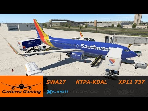 SWA27 | KTPA-KDAL | Default 737+Zibo Mod | X-Plane 11 Beta