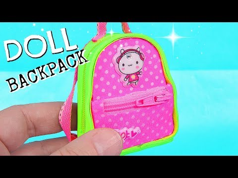 DIY Miniature Backpack with zippers