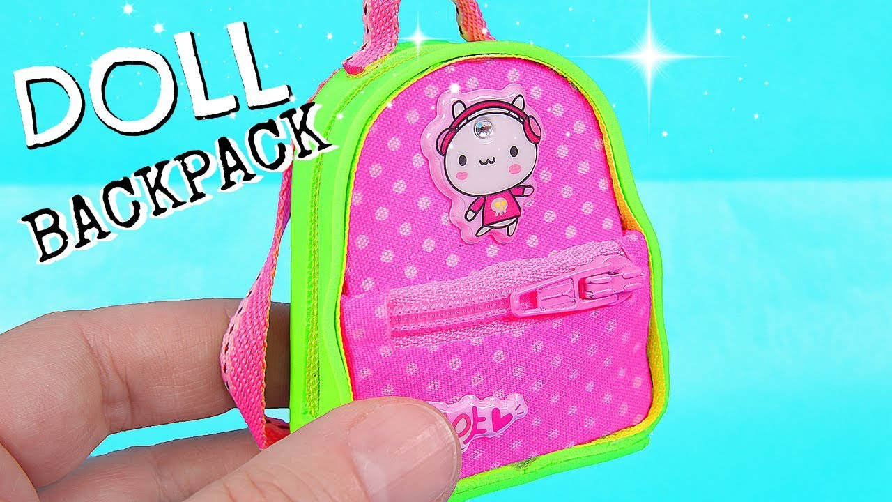 b78ed1abab1f DIY Miniature Backpack with zippers - YouTube
