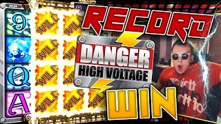 MY ABSOLUTE BIGGEST RECORD WIN ON DANGER HIGH VOLTAGE!!