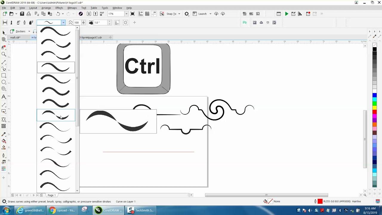 Corel Draw Tips Tricks Artistic Media Tool More Info Part 3 Youtube
