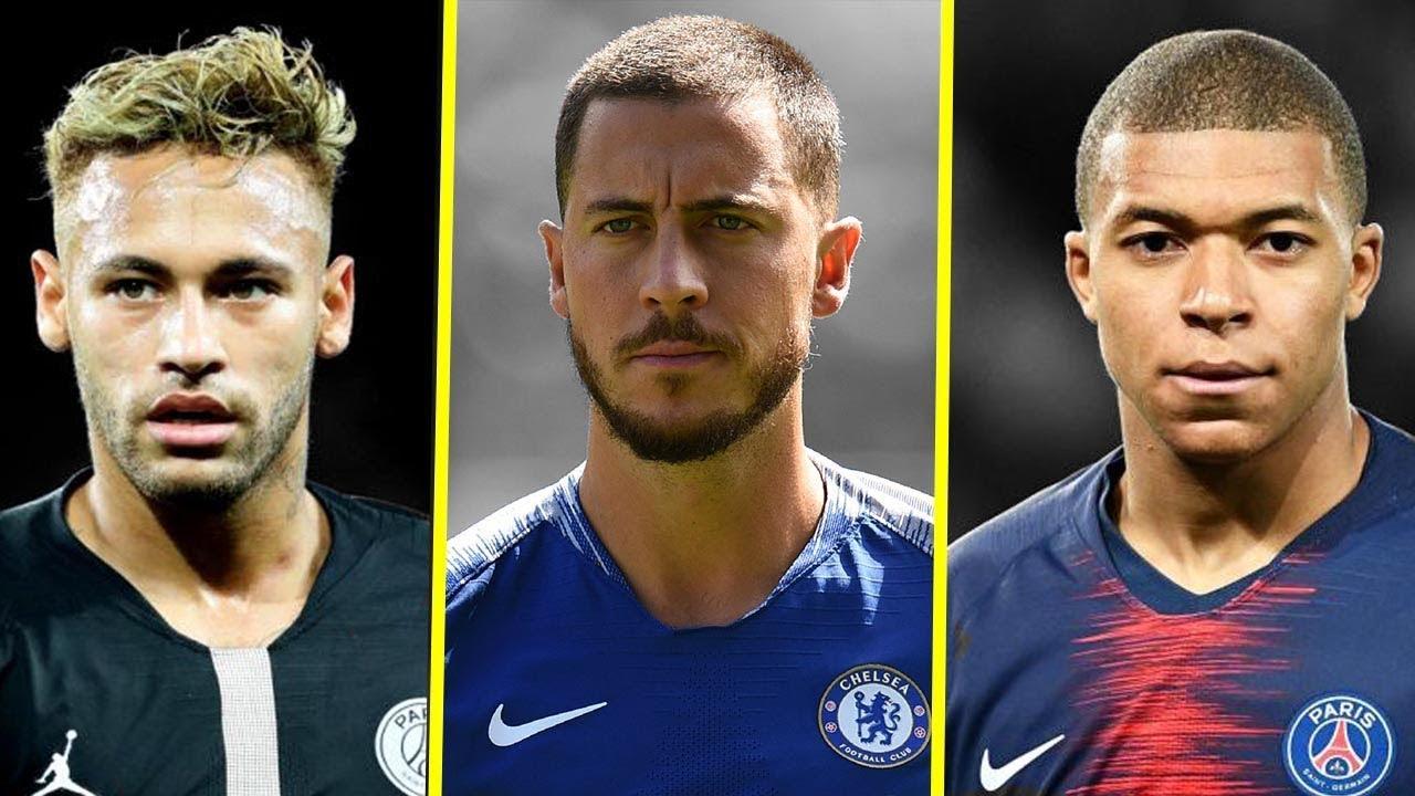 Image result for Mbappé, Neymar, Hazard and Ousmane Dembélé