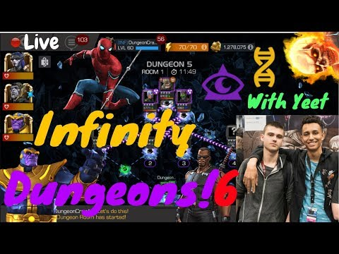 Going Far In Dungeon 6! W/Yeet Live! - Marvel Contest Of Champions