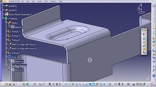 Catia V5 Tutorial|generative Sheetmetal|surface Stamping;half Pierce & Limit Height With Plane