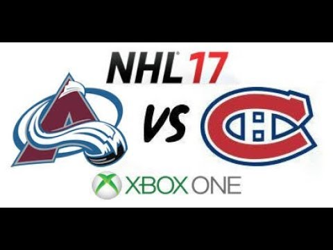 NHL 17 - Colorado Avalanche vs Montreal Canadiens - Xbox One
