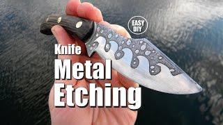 Easy Knife Metal Etching DIY