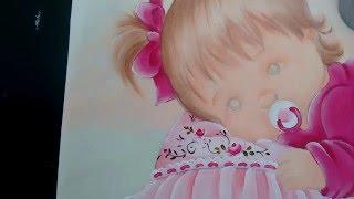 Como estampar rosinhas -Pinturas baby Márcia