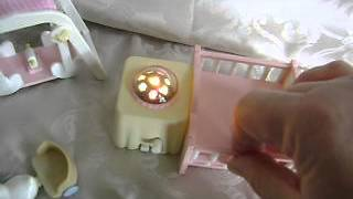 Calico Critters Of Cloverleaf Corners~nightlight Nursery Furniture Set~double Crib~projector Light