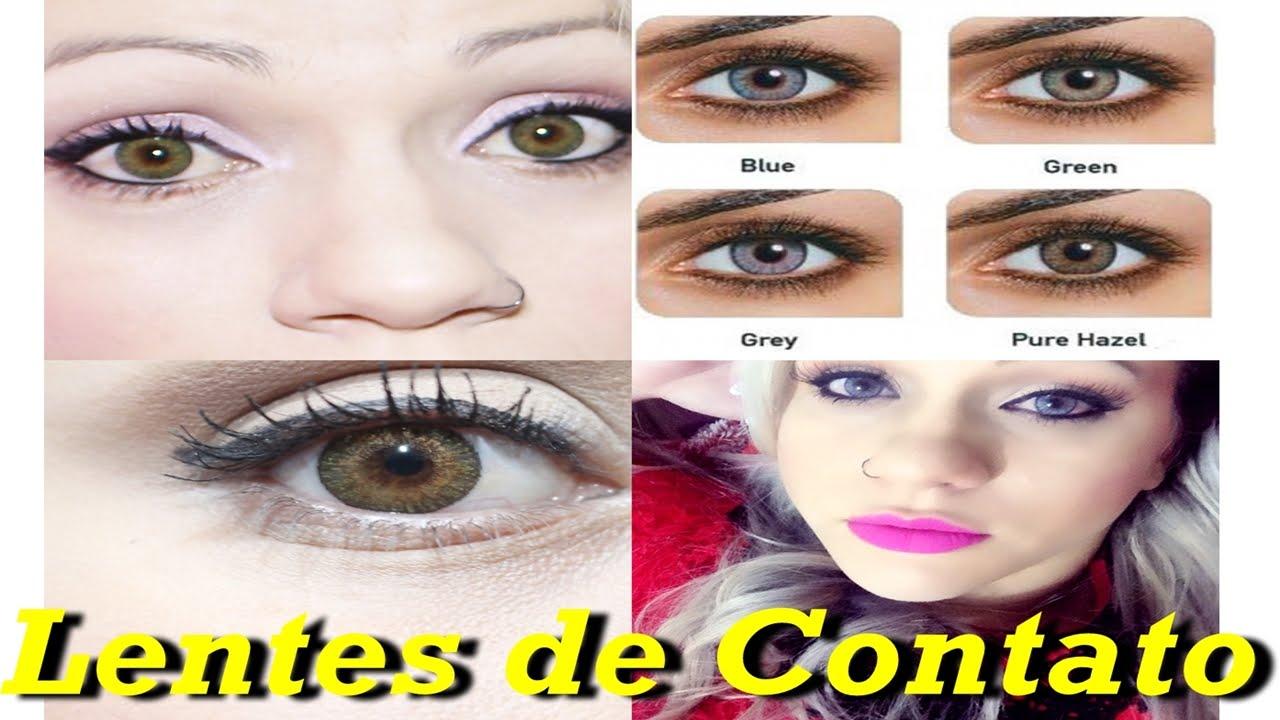 Lentes de Contato Super Natural Coloridas Verde Mel Cinza e Verde Eyes com  keity Godoy jeito Femino - YouTube 523cc22f17