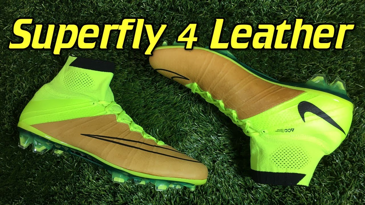 K-Leather Nike Mercurial Superfly 4 Tech Craft Volt/Canvas - Review + On  Feet - YouTube