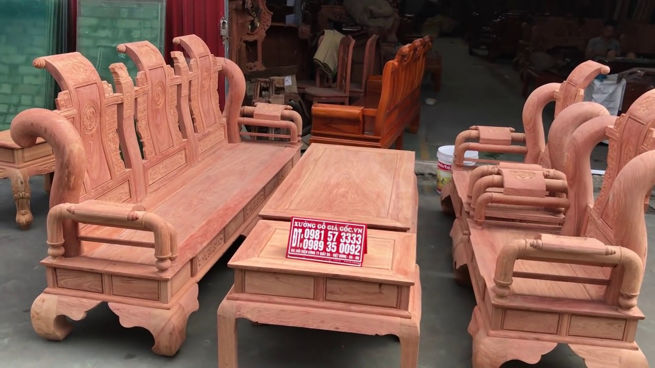 Bộ bàn Ghế Tần Thuỷ Hoàng cột Liền hàng đặt gỗ hương đá tay 12 (Xưởng Gỗ Giá Gốc)0981573333