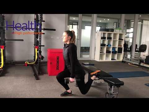 Rear leg elevated split squat (Bulgarian Split squat) | Melbourne Sports Chiropractor
