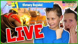 Fortnite Live Stream with my Dad
