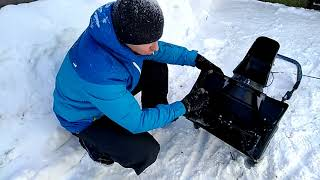 снегоуборщик MacAlister 2000. Обзор и тест.