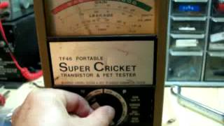 Sencore TF46 portable Super Cricket Transistor & FET Tester
