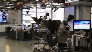 background newsroom studio control backdrop