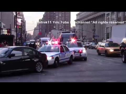 Best of 2014 NYPD responding policecars on New York streets HD ©