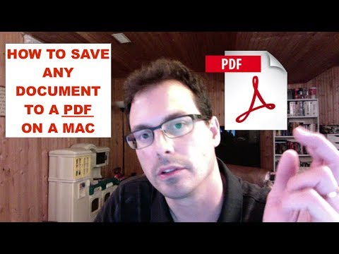 How To Save Any Document As A PDF File On A Mac