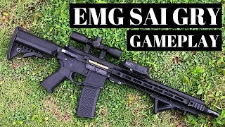 EMG SAI GRY AR 15 AEG Training Rifle Gameplay