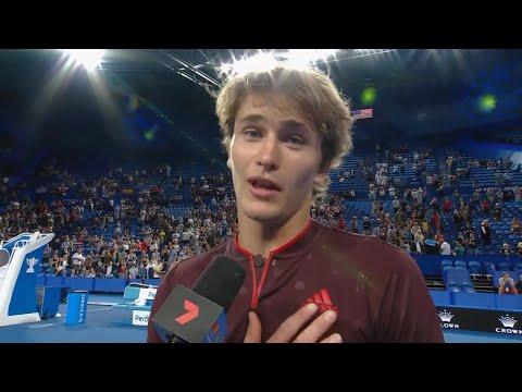 Alexander Zverev and Angelique Kerber on-court interview (RR) | Mastercard Hopman Cup 2018