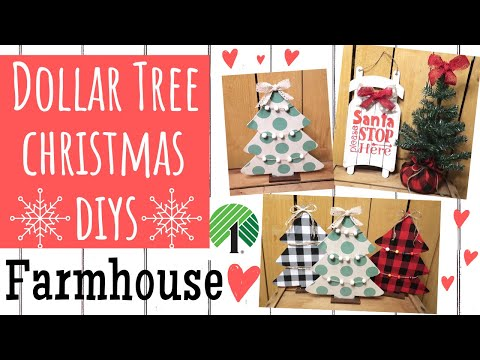 DOLLAR TREE DIY🎄EASY FARMHOUSE CHRISTMAS DECOR🎄I MADE BUFFALO CHECK!