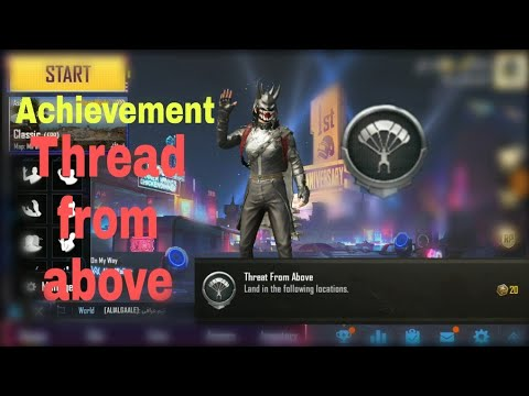 How to complete thread from above achievement | pubg mobile