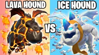 Ice Hound Vs Lava Hound | Super Troop Vs Normal Troop | Clash of clans