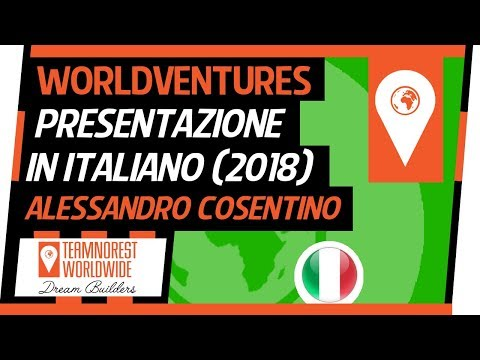WorldVentures: Presentazione In Italiano | Alessandro Cosentino (2018)