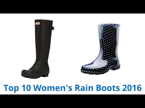10 Best Women's Rain Boots 2016