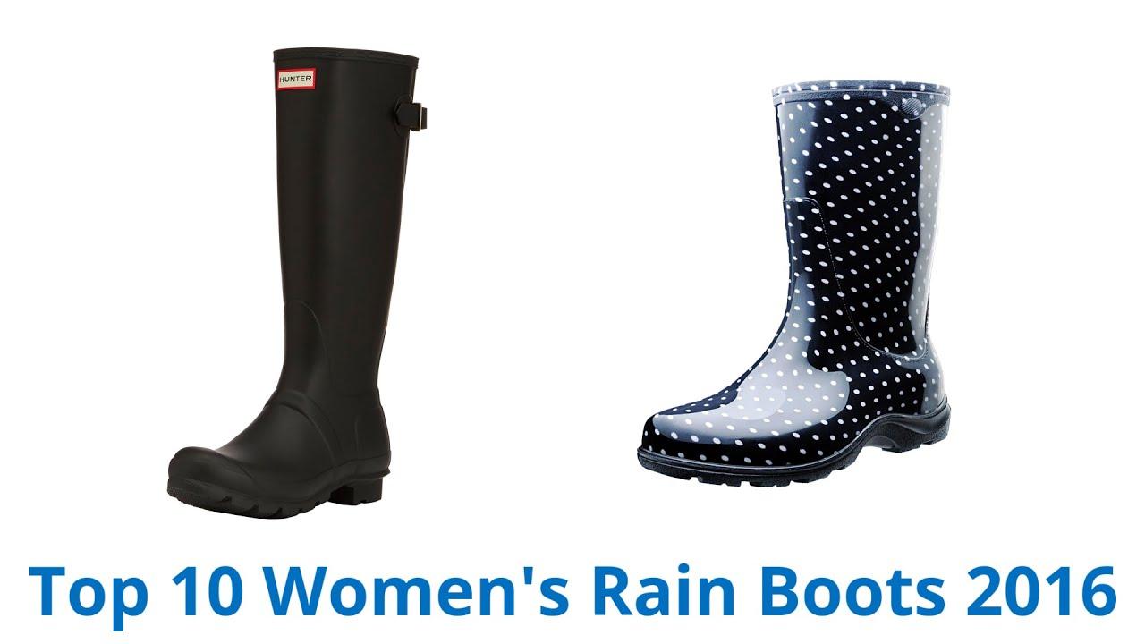 10 Best Women's Rain Boots 2016 - YouTube