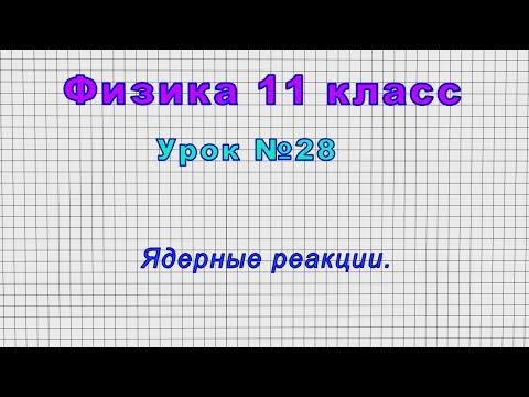 Физика 11 класс (Урок№28 - Ядерные реакции.)