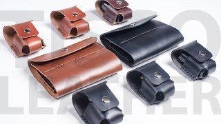 Кожаный чехол для карт памяти. Leather memory card case