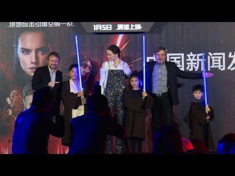 'Last Jedi' cast and crew in China for premiere
