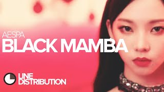 AESPA - Black Mamba (Line Distribution)