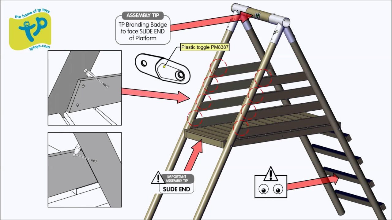 smyths toys - tp round wood multi playcentre assembly video