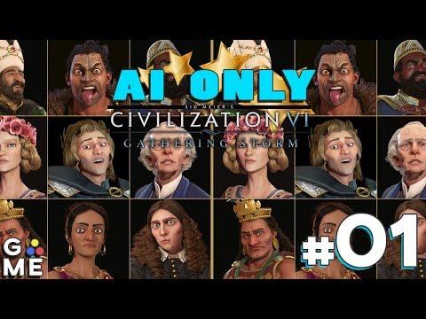 AI ONLY - Gathering Storm Civs | Civilization 6: Gathering Storm | Episode #1