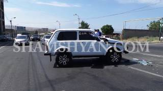 Երևանում բախվել են Нива ն ու Opel ը  2 երեխաներ տեղափոխվել են հիվանդանոց