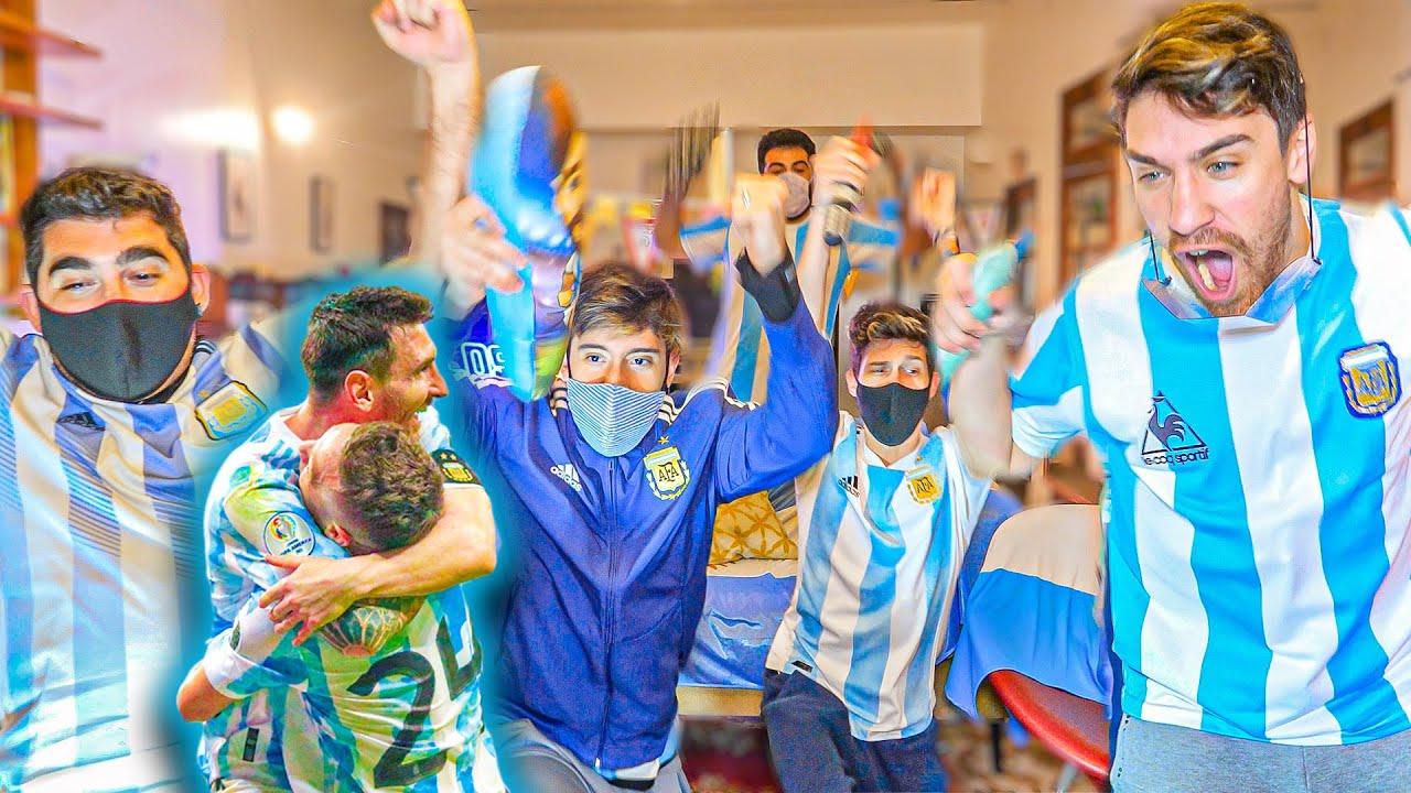 Reacciones de amigos | Argentina vs Paraguay | Copa América 2021