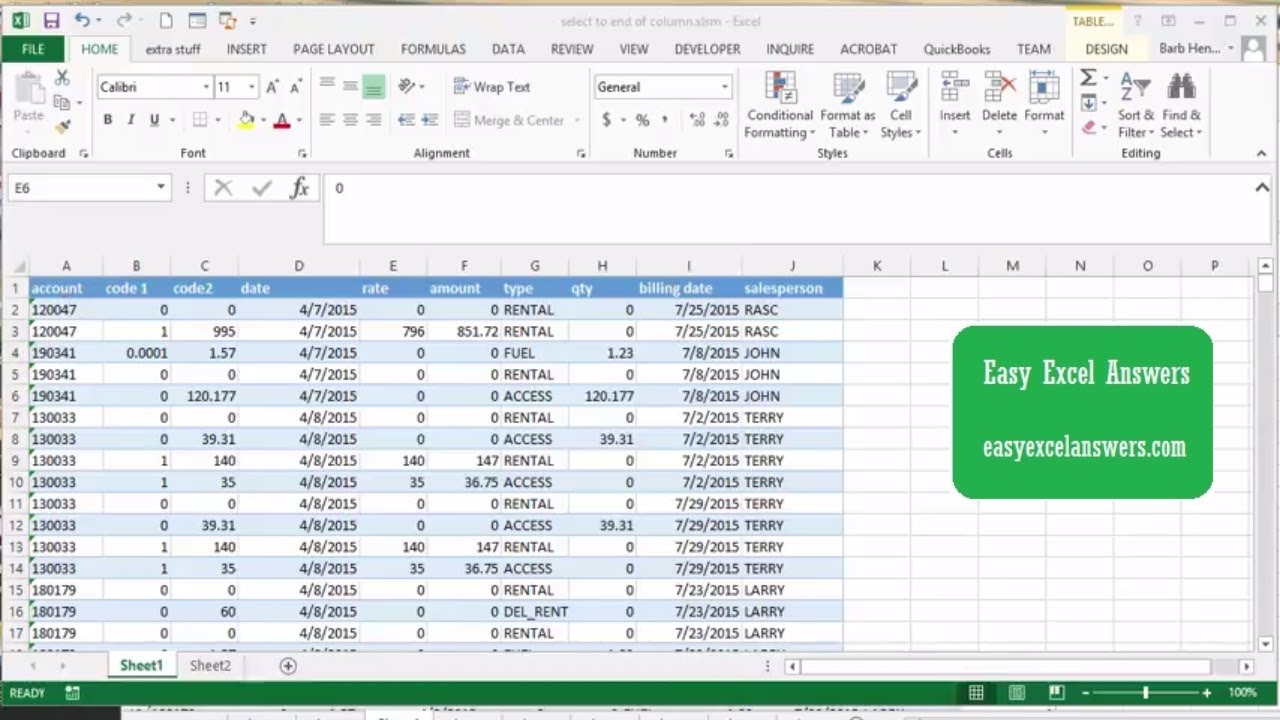How to select and copy an entire column with VBA in Excel
