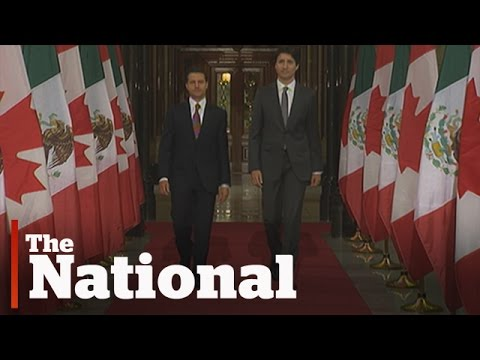 Mexican President Meets With Justin Trudeau In Canada