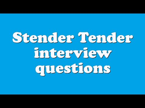 Stender Tender interview questions
